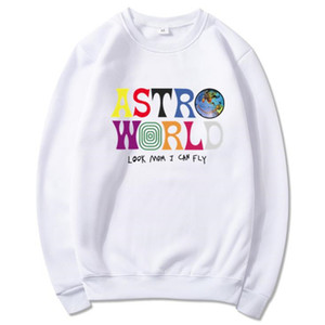 Mens O-Neck Pullover Sweatshirt Women Clothes Fashion Casual Hoodies Lovers Travis Scott Astroworld Print High Street Sweater Hoodie 2020