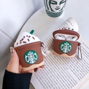 Para AIRPod 3 Case Capa para Apple Air Pods silicone Luxo Pro gelo 3D bonito café cereja creme fone de ouvido capa para Airpods Capa ins