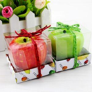 Las velas de la fruta de Apple en forma de velas perfumadas Festival Bouglé Atmósfera romántica decoración del partido la víspera de Navidad Año Nuevo Decoración LX1615
