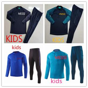MESSI 2019-2020 çocuklar Futbol Kazak mont INIESTA PİKE Üniformalar Futbol Camiseta de Futbol O.DEMBELE SUAREZ messi çocuklar eşofman Suits