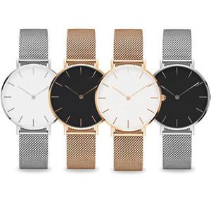 Top Rose Gold relógio de quartzo 40 milímetros e 36 milímetros 32 milímetros Casual japonês relógio de quartzo de aço inoxidável de malha de homens com relógio Magro Relógio Ladies