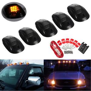 5pcs LED Cab Roof Top marcador de las luces de marcha del coche de las luces exteriores para el carro SUV 4x4 para Chevy GMC de Dodge