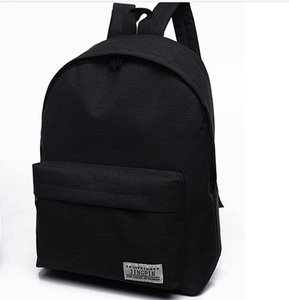 Solid Color Canvas Backpack Schoolbag Tide Small Fresh College Style Backpack Men and Women Fashion Travel Bag Best Selling
