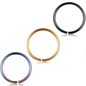 Inoxidável Hoop Nariz Anel E Stud Cartilagem Hoop Septo tragus piercing Brinco Body Jewelry 20G Mix 100pcs 08/06 / 10 milímetros
