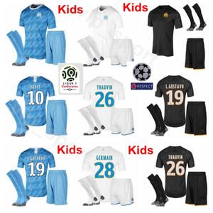 마르세이유 청소년 저지 THAUVIN 양말 축구 세트 PAYET GERMAIN GUSTAVO SANSON STROOTMAN CLINTON SAKAI LOPEZ RAMI 축구 셔츠 키트
