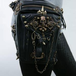 Vintage vapor Unisex Steampunk Fanny Bag Punk Retro Rocha Saco gótico Goth ombro cintura sacos Packs Leg Vitoriano