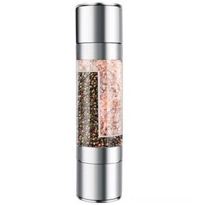 Stainless Steel Salt Coffeeware Kitchen, Dining & Bar And Pepper Grinder 2 In 1 Manual Salt & Pepper Mill Shakers Refillable With Dual Adjus