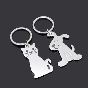 New Fashion Creative Model Cat Keychain Popular keyring Metal Key Chain Wedding Party Favor Gifts LX2013