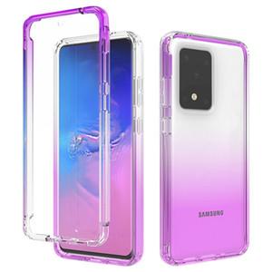 Акриловый прозрачный Clear Бампер Gradient чехол для Samsung Galaxy S20 Ультра S10 Примечание 10 Plus A51 A71 A20 A30 A50 A10E царапаться Cover
