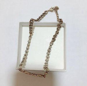 La manera tiene collar de cristal de sellos de la fiesta de compromiso de la joyería señora de las mujeres amantes de la boda regalo para la novia con la CAJA