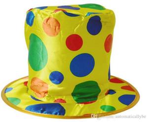 Горошек цилиндр клоун цирк Хэллоуин маскарадный костюм аксессуар карнавал широкополая шляпа шапка косплей день рождения украшения подарок