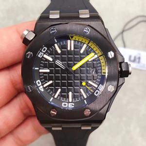 U1 공장 패션 스포츠 높은 품질 남성 시계 15701 7 색 고무 스트랩 대형 격자 장식 다이얼 자동 기계식 시계