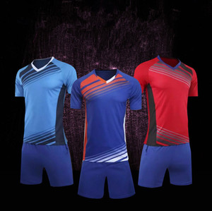 Fashion Design Custom Personality Logo Soccer Uniform Football Set Kint Men Kids Football Training Uniforms Shorts