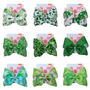 Bowknot Saç Toka Kız bebekler Lucky Clover Tokalarım Çocuk Yeşil Bow-kravat Firkete Çocuklar Bahar Şapkalar VT1084