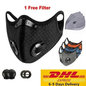 DHL US Stock Cycling Protective Mask With Filter Activated Carbon PM2. 5 Anti-Pollution Sport Running Training MTB Road Bike Cycling Mask