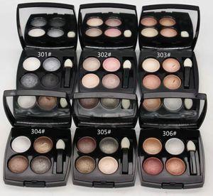 1pcs / lot Markenqualität meistverkaufte Produkte Multi-Effekt sammeln Quadra Lidschatten-Palette Mineralzusammensetzung 4 Farbe Lidschatten 0,5 g
