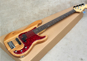5 bass electric guitar strings with ASH body, 20 sound columns, red pearl shield, mahogany fingerboard, custom service