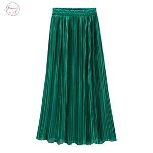 Skirt Ladies High Waist Long Solid Color Pleated Skirt New Sexy Street Bag Hip Skirt Summer Ruffled Tight Hip Hop Banquet