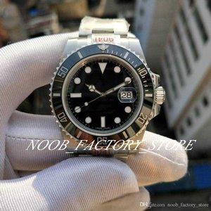 New Luxury ZZ Factory Best Date 904L Steel Watches Men 40MM Automatic Movement Cal.2836 Watch Ceramic Bezel Sub Dive 116610LN Wristwatches