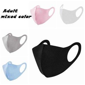 5 cores Máscaras Anti Poeira Anti-fog Máscara Facial para adultos respirável reutilizável Dustproof gelo máscaras de algodão de seda ZZA1866