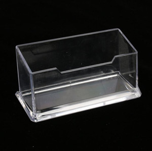 Clear Desktop Business Card Holder Desk Office Organizer Display Stand Acrylic Office Supplies Desk Accessories SN1650