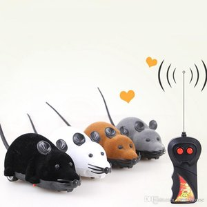 Cat Dog Wireless Remote Control Mouse Electric Flock Simulation Mouse Cat Toy Cat Educational Toys Black Mouse