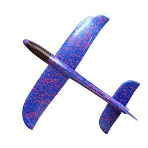 1Piece conluio versão de um lado cuspida Airplane Foam Aircraft EPP Jogando Modelo Do Avião Jogando Glider Boomerang Toy GF74