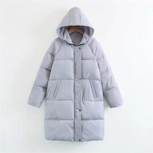 Jacket Baqcn Senhora do inverno Mulheres Outono de alta qualidade Parkas Feminino de inverno de espessura jaquetas Outwear morno mulheres gola de pele Coats T191109