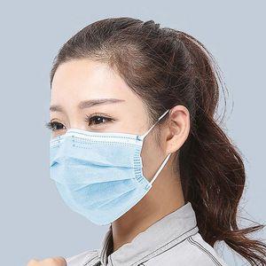 Máscara descartável de três camadas Orelha-laço poeira saúde protect Boca Máscaras tampa 3-Ply não-tecidos descartáveis Máscara de poeira respirável parte uso familiar