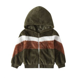 2019 New Kids Baby Boy Girl Unisex Coat Winter Warm Patchwork Hooded Coat Cloak Jacket Outerwear