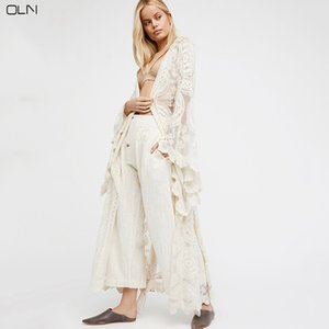 OLN Donna Summer Holiday Style Fuori dal cardigan in chiffon lungo femminile