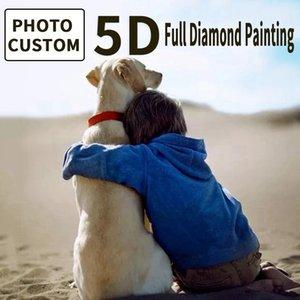 Customized Diamond Paintings Photo 5D Diamond Embroidery Full Round square DIY Picture Custom Diamond Paintings Full Drill