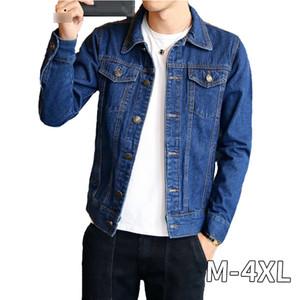 Spring Autumn Mens Denim Jacket Mens Trendy Fashion Bomber Thin Ripped Denim Jacket Male Cowboy Jeans jackets 4XL