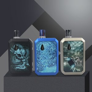Realm Pod System Vape Kit 1100mAh Buit-in Battery Max 30w Box Mod Battery 3.5ml Refillable Changeable Coil Compatible with eSmokNord Coil
