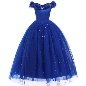 공주 신데렐라 소녀 드레스 키즈 나비 장식 된 코스프레 의상 어린이 할로윈 생일 파티 장례식 웨딩 드레스 Y19061501