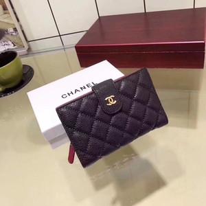 Louis Vuitton LV bovina di alta qualità titolare della carta di tigre ricamato testa ape Portafoglio uomo progettista signore nere Portafoglio uomo borsetta rossa