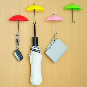 Em forma de guarda-chuva Ganchos De Parede 3 pçs / set Dupla Chave Titular Cremalheira Rack Para Cozinha Casa de Banho Organizador Decorativo Da Parede WX9-1469