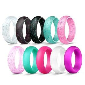Kadınlar Düğün Band Esnek Silikon Ring'in 5.7mm Hipoalerjenik Spor Food Grade Çevre Kauçuk Erkek Parmak Yüzük
