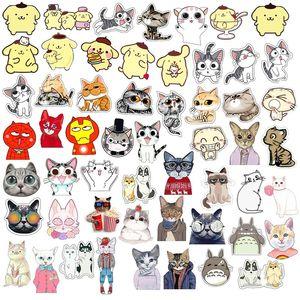 Joyería caliente de la historieta animal linda del gato del esmalte broche insignia decorativo estilo broches de regalo de las mujeres para