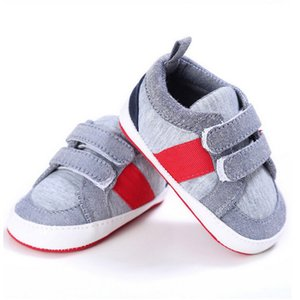 Newborn kids Toddler Baby Unisex clothes Geometry Crib Shoes Lace up Soft Sole Comfort Canvas Casual Prewalker Shoes one pairs