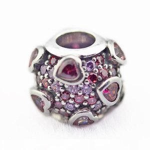 Fits Charms Bracelets 2018 Spring Love Charm Explosion Charm beads Original 925 Sterling Silver DIY Jewelry For Women Making Wholesale