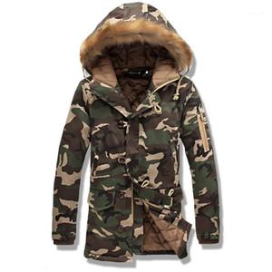 FANTUOSHI 2017 Новый Камуфляж Большой размер Теплый Outwear Зимняя куртка Длинная часть мужчин ветрозащитный Hood Men Jacket Теплый Parkas1