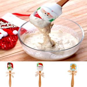 Weihnachtsmann Küche Silikon Creme Butterkuchen Spachtel mischen Teig Abkratzbürste Butterkuchen Bürsten Backen Werkzeug Küchen 2020 XD20561