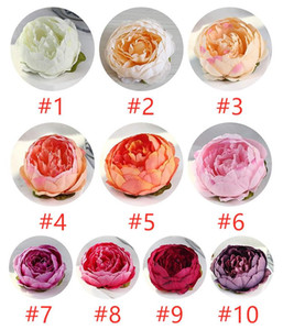 10cm Artificial Fake Flowers For Wedding Decorations Silk Peony Flower Heads Party Decoration Flower Wall Wedding Backdrop White Peony