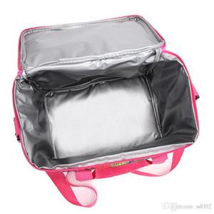 Oxford sac isotherme fleurs Épaississement Cooler pique-nique Zipper Déjeuner simple épaule Aluminium Film Paquet Portable Ice Pack 14 99jsC1