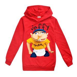sml Jeffy impressa crianças Hoodies 6-14T Crianças Meninos dos desenhos animados Imprimir hoodies camisolas 115-165cm Designer crianças roupas Meninos BSS384 Atacado