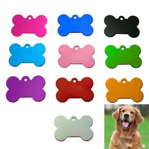 Puppy Mental Tag Pet dog métal Blank militaire Pet ID chien carte Balises en alliage d'aluminium armée Dog Tags No chaîne