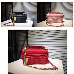 M54868 최신 M51930 엔드 여성 어깨 가방 수 놓은 높은 체인 가죽 디자이너 정품 가방 핸드백 여성 지갑 크로스 바디 웨이브 nkji