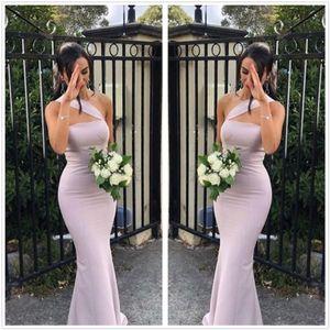 2019 One Shoulder Satin Mermaid Long Bridesmaid Dresses Ruched Floor Length Formal Wedding Guest Maid Of Honor Dresses