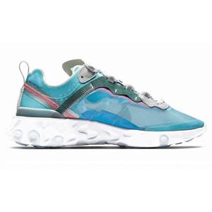2020 react element 87 running shoes for mens womens Pack White Sneakers Brand Men Women Trainer Men Women Designer Running Shoes222